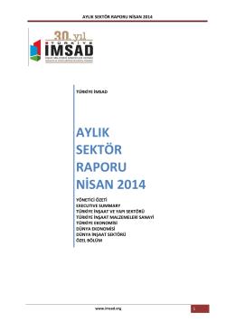 aylık sektör raporu nisan 2014