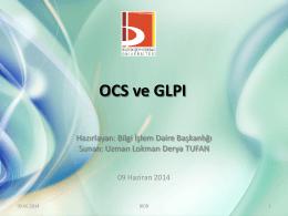 OCS ve GLPI - Bilecik Şeyh Edebali Üniversitesi Bilgi İşlem Daire