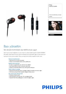 SHE8005/00 Philips Kulak İçi Kulaklık