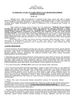 OCR Document - Niğde Halk Sağlığı Müdürlüğü