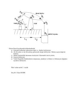 Mekanizma Teknigi Odev