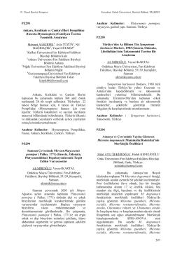 Ankara, Kırıkkale ve Çankırı İlleri Pompilidae(Insecta:Hymenoptera)