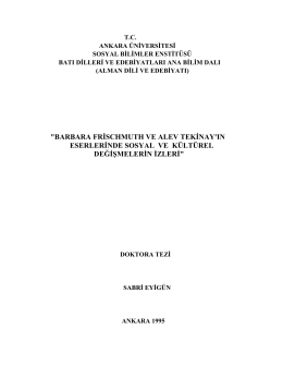 İndir (PDF, 312KB) - Prof. Dr. Sabri Eyigün Germanist / Sosyolog