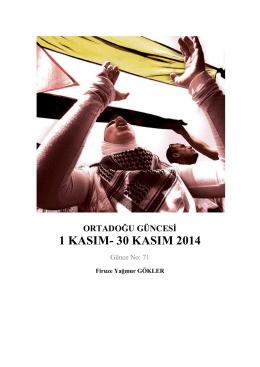 1 Kasım - 30 Kasım 2014