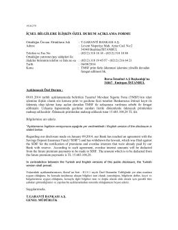 TMSF prim farkı ödenmesi işlemine yönelik davadan feragat