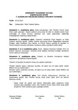 2014genel_kurul_tutanak - Yıldızkent 319 Ada Çobanyıldızı Sitesi