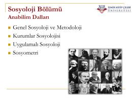 Sosyoloji - İzmir Kâtip Çelebi Üniversitesi :: Sosyal ve Beşeri Bilimler