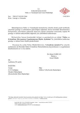 Genelge ve Talimatlar (13.02.2014