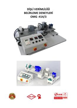 dişli verimliliği belirleme deneyleri omg -414/3