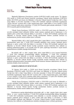 17 Eylül 2014 tarihindeki kesinleşmeden sonra hâkimlik ve savcılık
