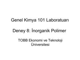 Polimer Deney Sunumu - TOBB Ekonomi ve Teknoloji Üniversitesi