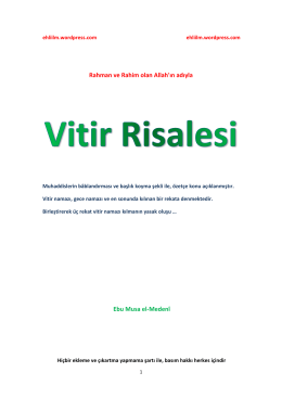 Vitir risalesi - WordPress.com