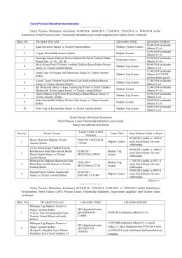 Enerji Piyasası Düzenleme Kurulunun 03/04/2014, 08/04