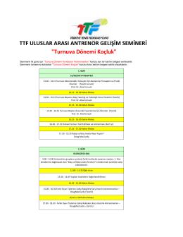 Turnuva Dönemi Koçluk - Türkiye Tenis Federasyonu