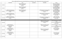 2014-2015 eğitim öğretim yılı güz dönemi ders programı