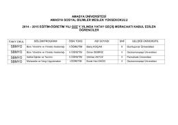 SBMYO SBMYO - Amasya Üniversitesi