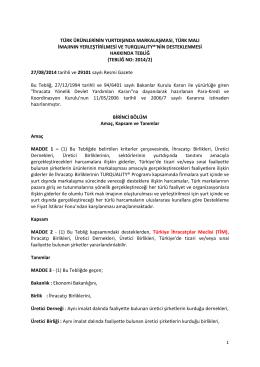 nin desteklenmesi - TİM Akademi 2023