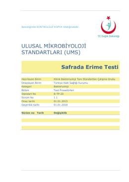 Safrada erime testi - Türkiye Halk Sağlığı Kurumu