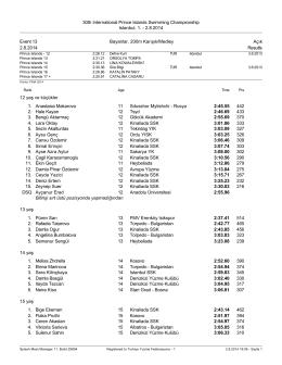 2.8.2014 Event 13 Bayanlar, 200m Karışık/Medley Açık