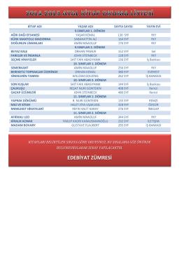 2014-2015 atal kitap okuma listesi