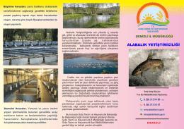 alabalık yetiştiriciliği - Denizli İl Gıda Tarım ve Hayvancılık Müdürlüğü