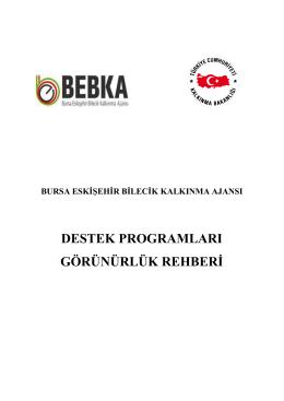 Görünürlük Rehberi - BEBKA | Bursa Eskişehir Bilecik Kalkınma Ajansı