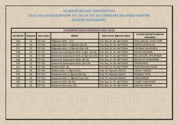 2013-2014 BAHAR DÖNEMİ TİT 101 ve TİT 102