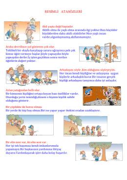 RESİMLİ ATASÖZLERİ - izzethekin.fevziozbey.k12.tr