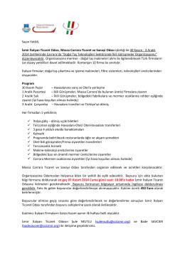 27.10.2014 Doğal Taş Teknolojileri Sektöründe İkili Görüşmeler