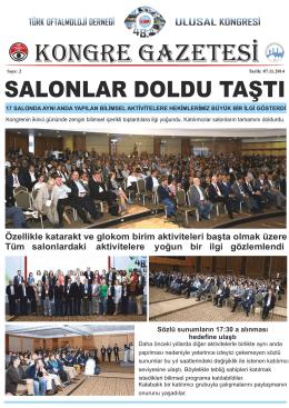 Kongre Gazatesi Sayı 2 - Türk Oftalmoloji Derneği