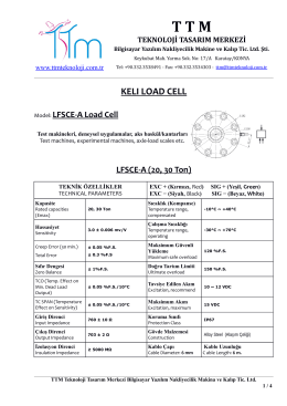 kelı lfsce-a load cell - TTM Teknoloji Tasarım Merkezi