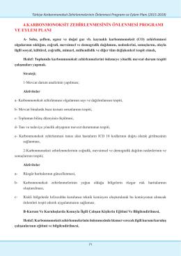 4.karbonmonoksit zehirlenmesinin önlenmesi programı ve eylem planı