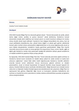 İstanbul Turizm Sektörü Analizi