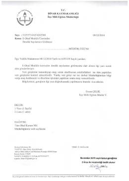 E-Okul - Dinar İlçe Milli Eğitim Müdürlüğü