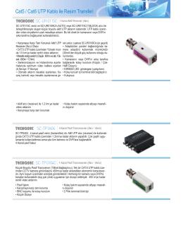 Cat5 / Cat6 UTP Kablo ile Resim Transferi