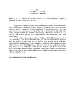 11-12-13 Haziran 2014 tarihleri arasında Van ilinde düzenlen
