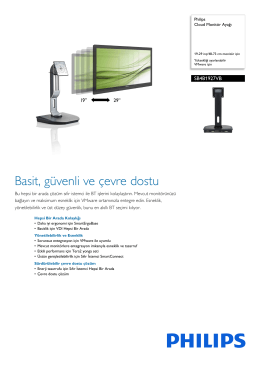 SB4B1927VB/00 Philips Cloud Monitör Ayağı