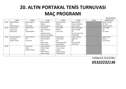 20. altın portakal tenis turnuvası maç programı