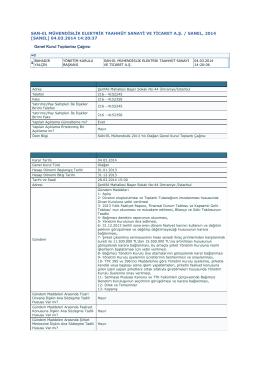 04.03.2014 Olagan Genel Kurul Toplanti Cagrisi - SAN