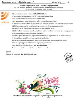 SORU-1 - www.omersencar.com
