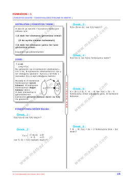 Fonksiyon 1.Bölüm - 11.sınıf mat çözüm videoları