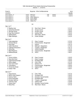2.8.2014 Event 9 Bayanlar, 100m Sırt/Backstroke Açık 2