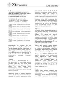p-41 10 cmh2o peep uygulaması ve serebral oksijenizasyon