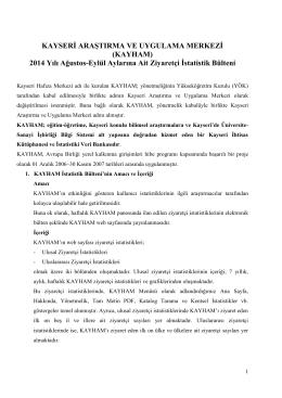 Kayham İstatistik - Erciyes Üniversitesi