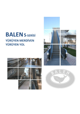 BALENS-SERİSİ YÜRÜYEN MERDİVEN YÜRÜYEN YOL