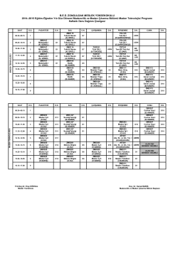 BEÜ. ZONGULDAK MESLEK YÜKSEKOKULU 2014–2015 Eğitim
