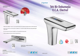Tek Bir Dokunuşla E.C.A. Electra!