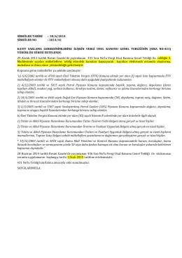 Sirküler 2014-041 - KAYIT SAKLAMA GEREKSİNİMLERİNE İLİŞKİN