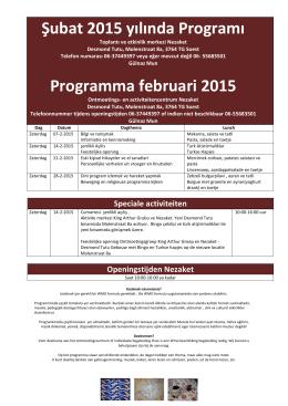 activiteitenprogramma van Nezaket