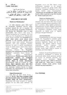30.01.2015] EHL-İ BEYT